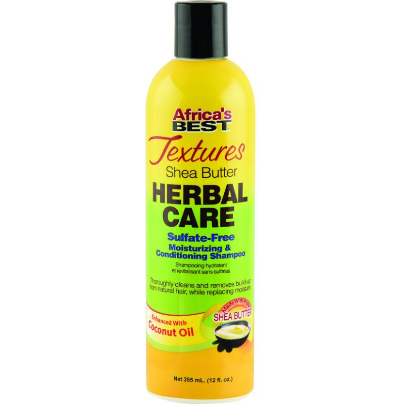 Africa's Best Textures Shea Butter Herbal Care Sulfate-Free Moisturizing & Conditioning Shampoo