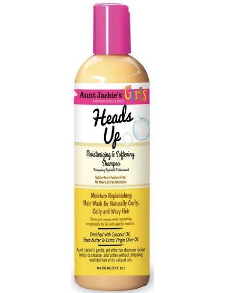 Aunt Jackie's Curls & Coils Girls Heads Up Moisturizing & Softening Shampoo