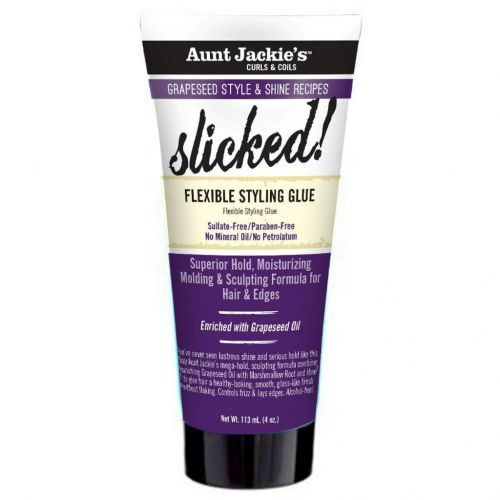 Aunt Jackie's Grapeseed Style And Shine Recipes SLICKED! Flexible Styling Glue