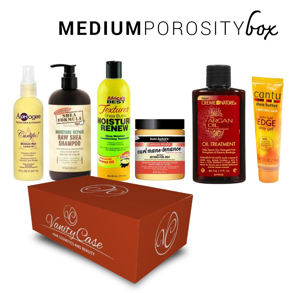 MEDIUM POROSITY hair box
