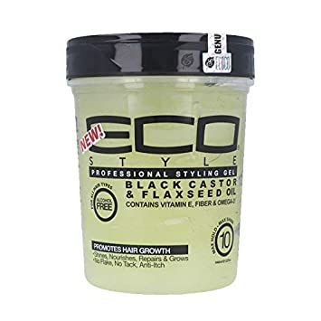 Eco Style Professional Styling Gel Black Castor e Flaxseed Oil