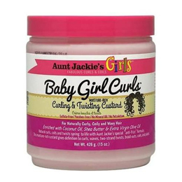 Aunt Jackie's Curls & Coils Girls Baby Girl Curls Curling & Twisting Custard