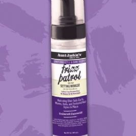 Aunt Jackie's Grapeseed Recipes - Frizz Patrol Anti-Poof Twist & Curl Setting Mousse