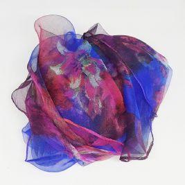 Hair foulard - FUCHSIA & BLUE